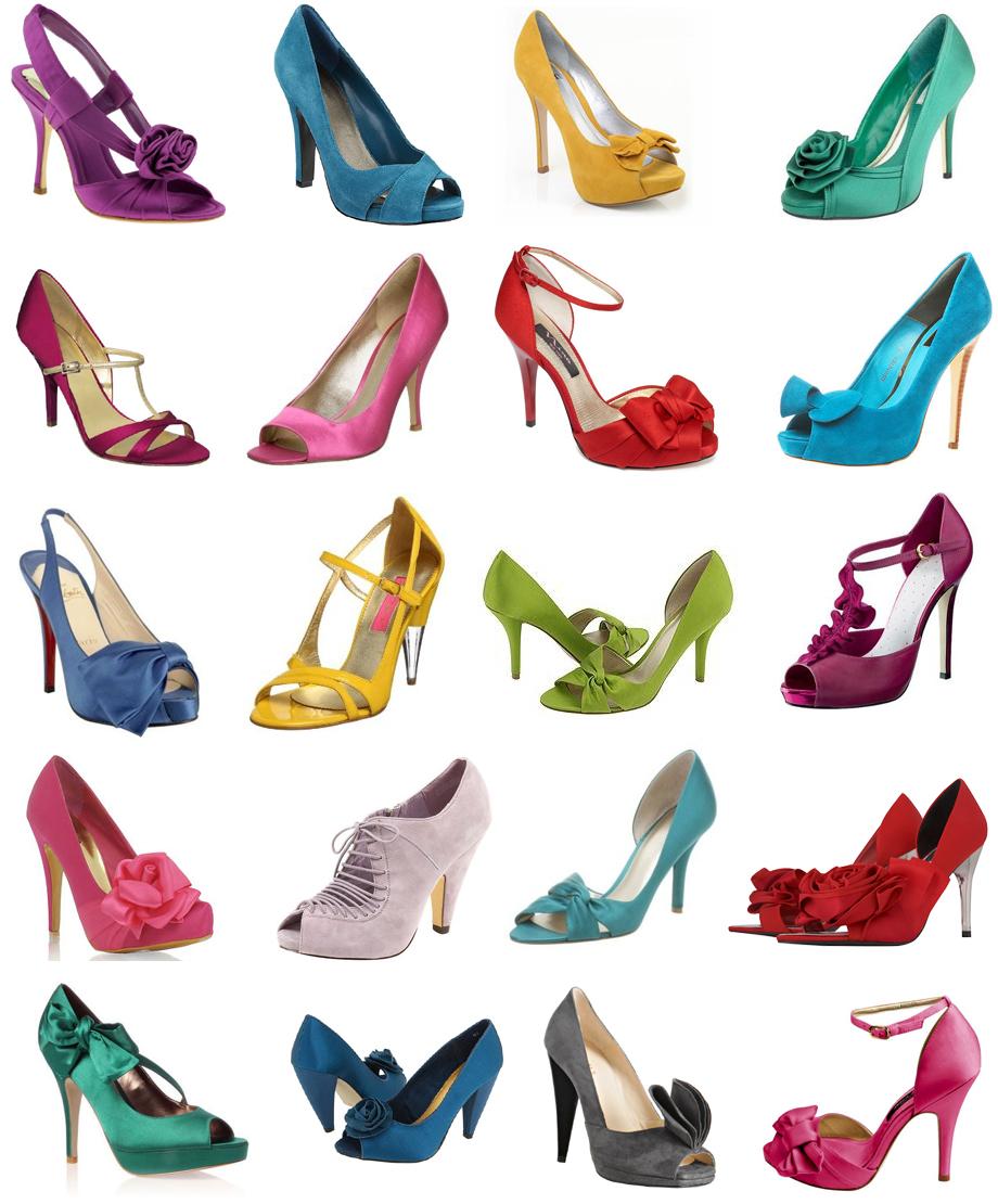 Colorful Wedding Bridal Shoes