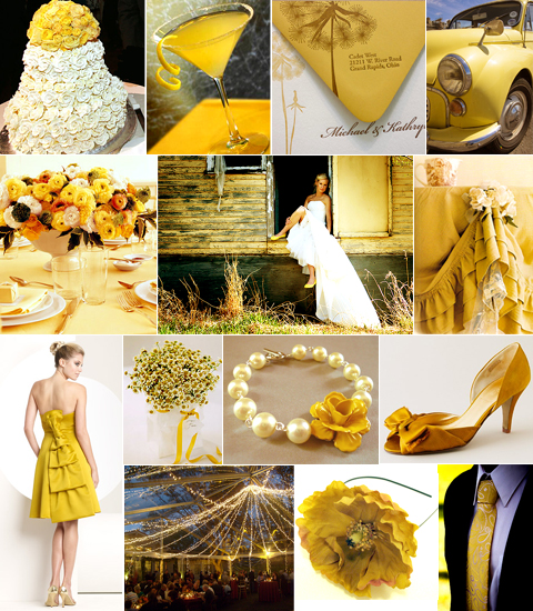 A Wedding In Mustard Shades Of Yellow Pixel Ink