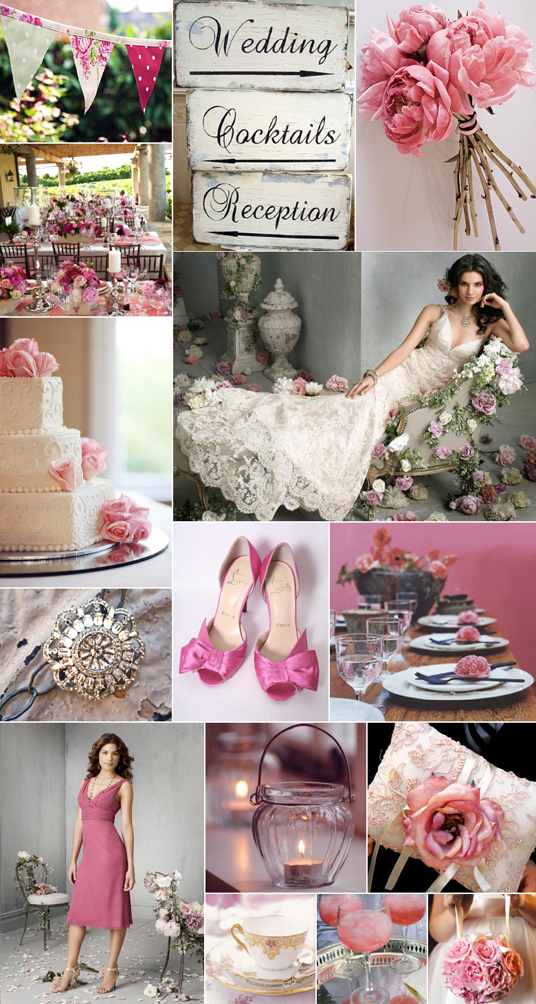 A Shabby Chic Wedding In Pink | Pixel & Ink