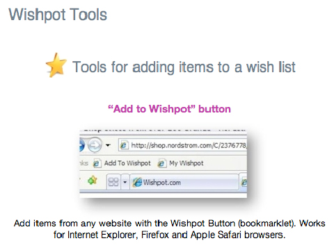The Add to Wishpot Button
