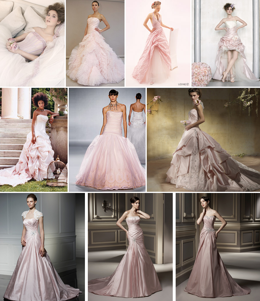 Pretty Blush Pink Wedding Gowns