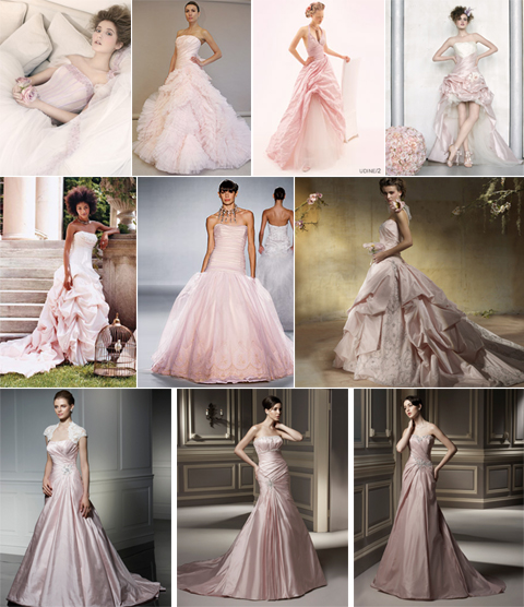 Blush Pink Wedding Gowns