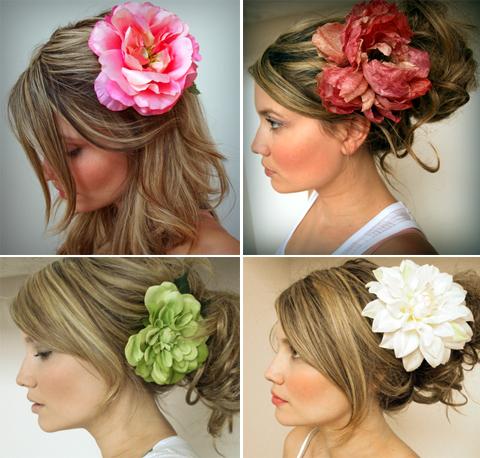 Bridal Silk Flower Hair Clip or Pin
