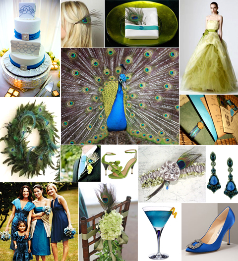Peacock Wedding Inspiration in Blue and Green