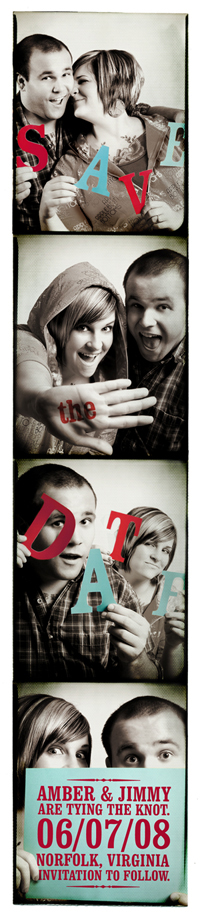 Photo Booth Save-the-Date DIY Photo Strip