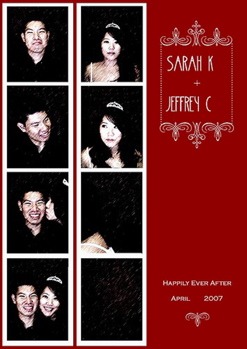 Photo Booth Save-the-Date Sarah & Jeffrey