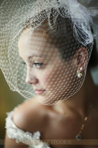 Red Leaf Studios Bride with Bird Cage Veil