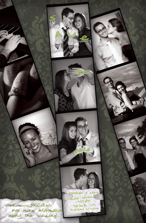 Save-the-Date Photo Booth Strip Card