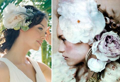 Silk Flowers Wedding Hair Clips