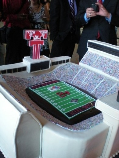 The entire stadium is the cake!