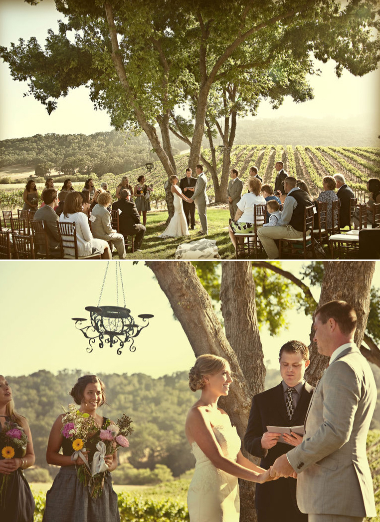 Paso Robles Vineyard Wedding Ceremony Of Erin And Greg