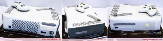 A true masterpiece: 360 view of an X-Box 360. Video games never tasted so good!