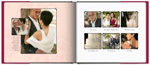 Wedding Book Sample from Blurb