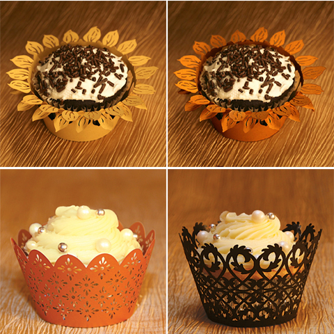 Cupcake Wrappers For Your Fall Wedding | Pixel & Ink