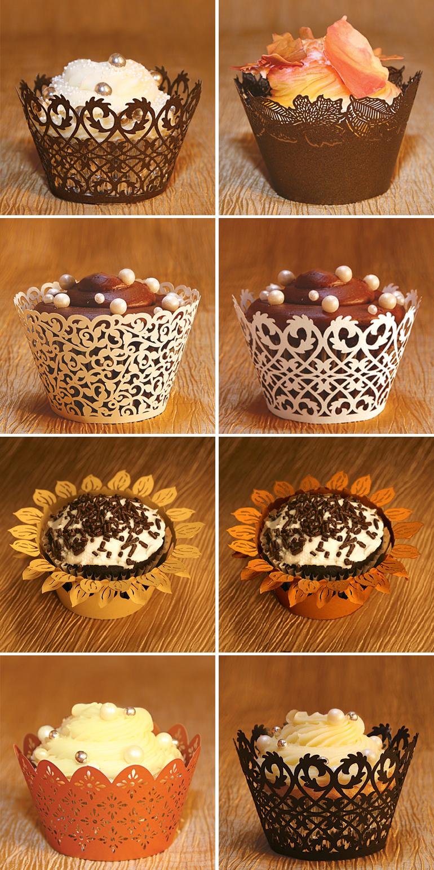 Leaves Cupcake Package By Acupcakery Com Ivy Vine Cupcake Wrapper