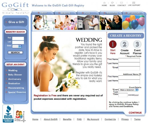 Let guests contribute cash as their wedding gift to you