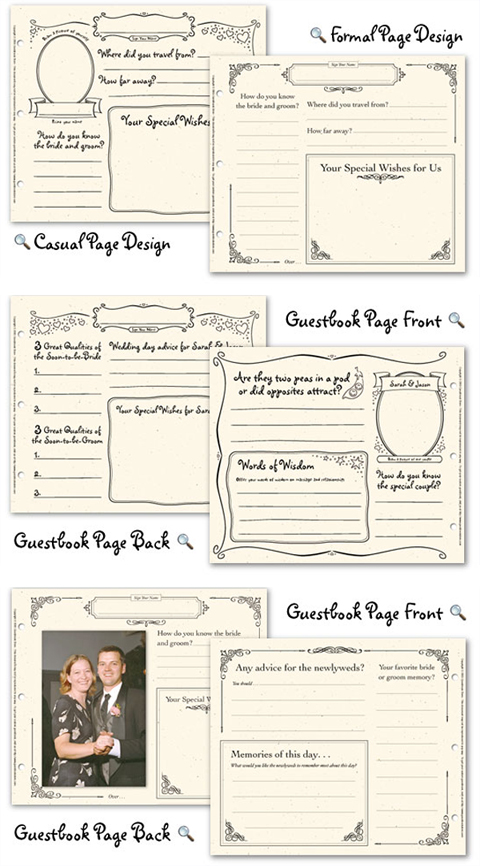 Wedding Guestbook Pages
