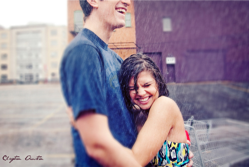 Engagement Session In the Rain Marisa and Trey