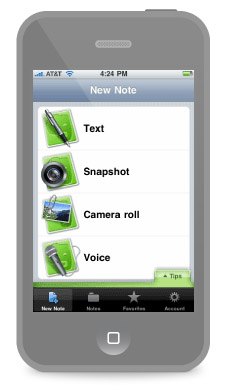 Collect and manage all your planning notes right on your iPhone with Evernote