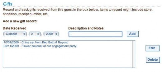 Gifts are one of the many details you can record in your Guest Manager profiles