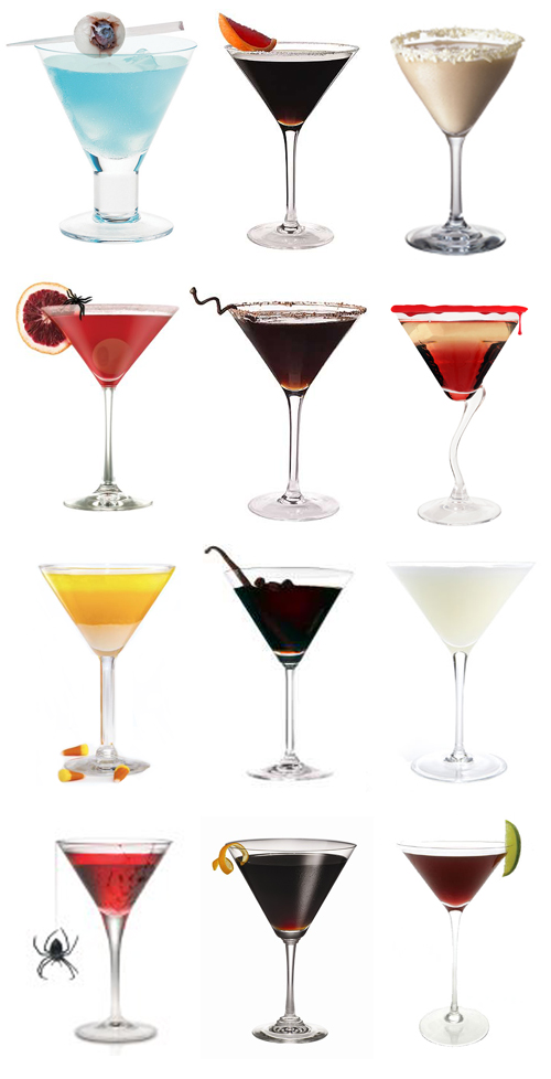 Halloween  Wedding Martinis