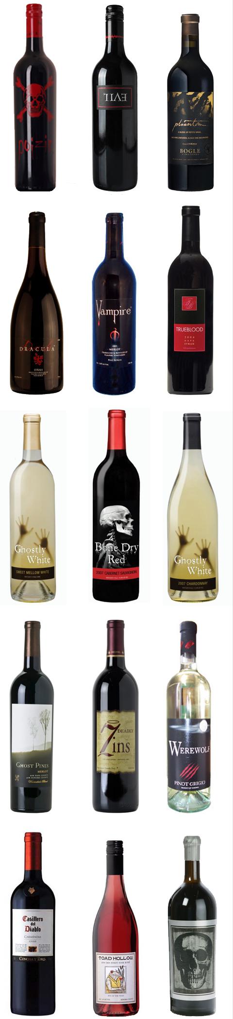 Halloween Wedding Wine Bottles