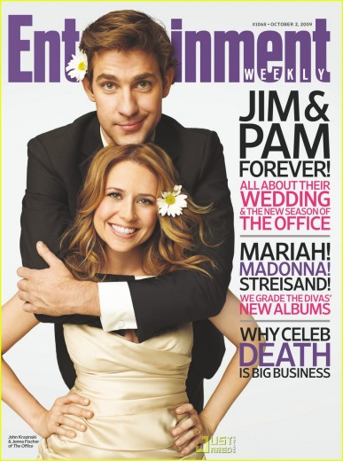Lotsa Marketing for the Fictional Big Day. Entertainment Weekly cover