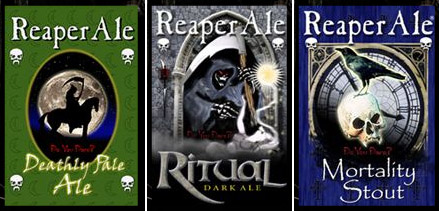 ReaperAle Brewing Company labels