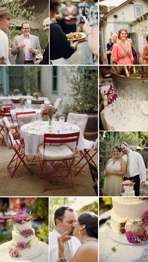 Rustic Chic Sonoma Wedding Luncheon Reception