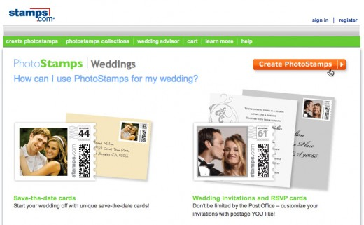 Stamps.com also lets you upload photos for your stamps online, as well as a Mac iPhoto tool