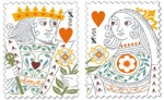 King & queen of hearts, my favorite from the USPS
