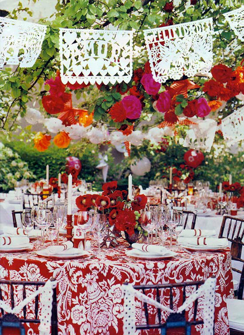 Papel Picado Wedding Reception Table