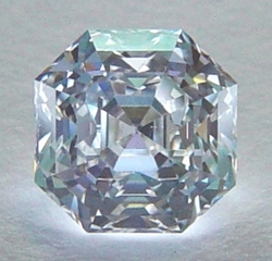 Asscher cut diamond recently created by a Pricescope.com blogger