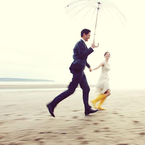 bride-rain-boots-beach