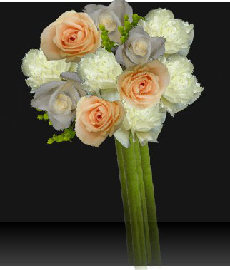 A sample bouquet created using Designed By The Bride's online tool