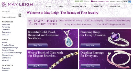 Get 20% your purchase through Valentine's Day at May Leigh Fine Jewelry