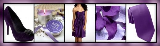 Purple Wedding Collage
