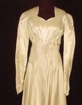 1940's WWII-Era Satin Wedding Dress