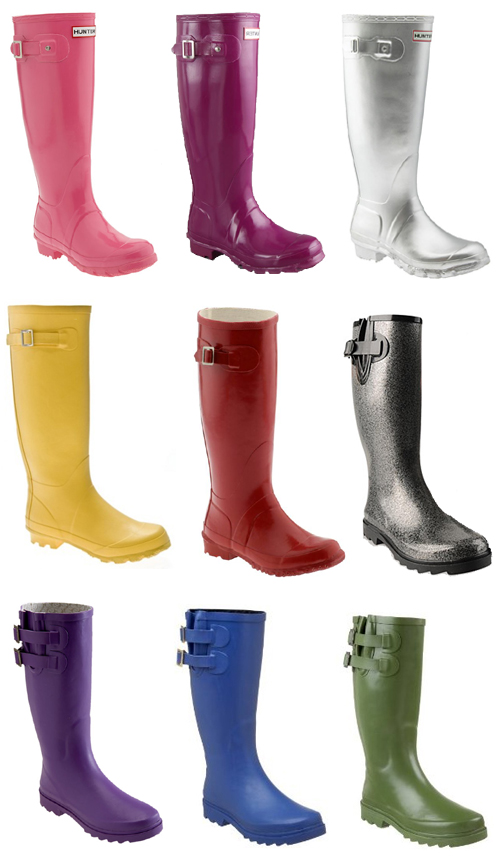 Solid Colored Rain Boots - Yu Boots