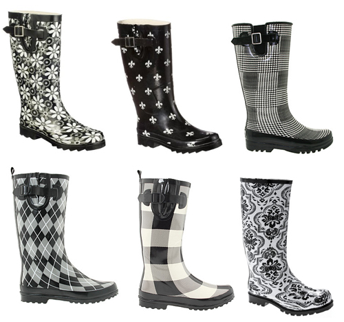 black and white rain boots | Gommap Blog