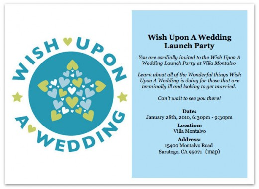 Wish Upon a Wedding Launch Party RSVP