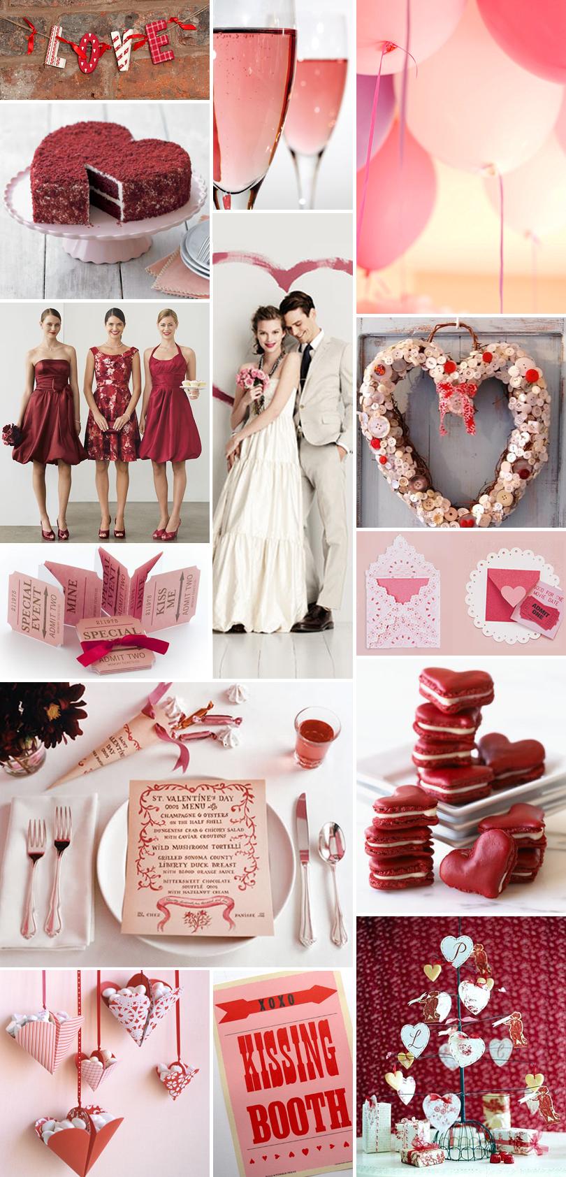 Wedding Inspiration A Heart Themed Valentine S Day Wedding Pixel