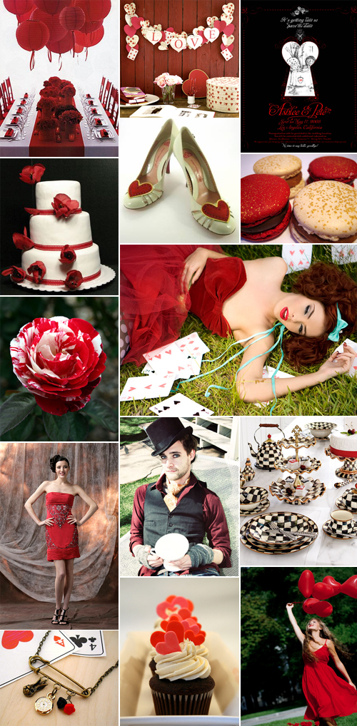 Alice in Wonderland Wedding Inspired by The Red Queen