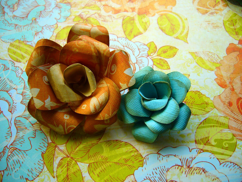 Do it yourself wedding project paper roses video tutorial pixel ink colorful paper roses diy project mightylinksfo