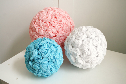 Paper Flower Balls For Wedding Wedding Diy Crepe Paper Flower Balls 991681