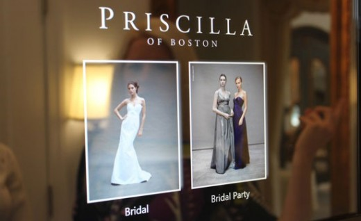 Priscilla of Boston and HP's Gown App On a TouchSmart Computer
