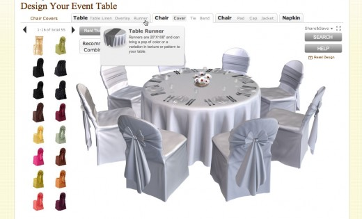 Point-and-click your way to a table setting design with BBJ Linen's online table design tool