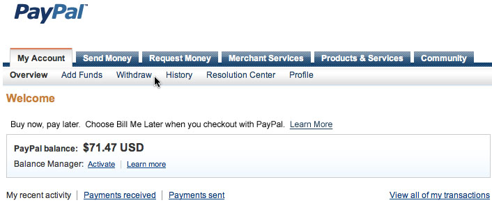 how to use paypal balance to pay