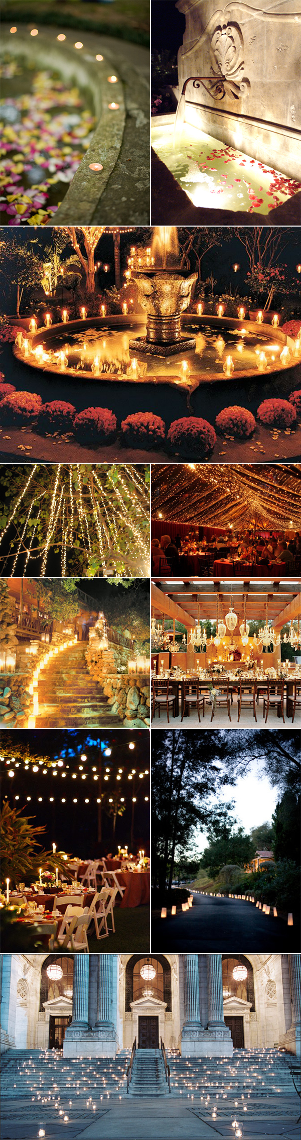 Lighting for your outdoor wedding reception venue pixel for Outdoor wedding reception lighting