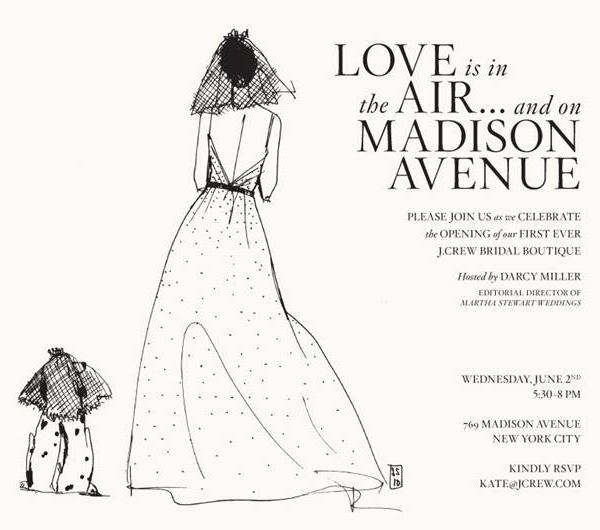 jcrew_bridal_boutique_invite first ever j crew wedding boutique pixel & ink,The Wedding Invitation Boutique